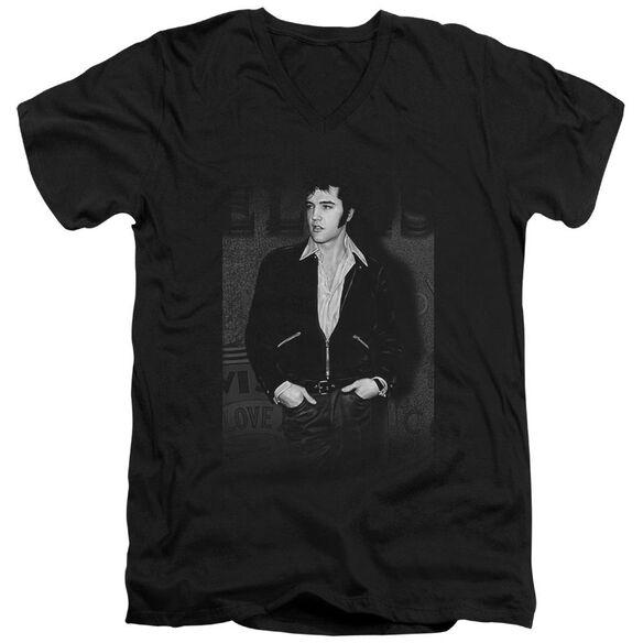 Elvis Just Cool Short Sleeve Adult V Neck T-Shirt