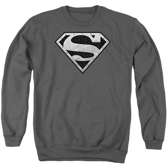 Superman Super Metallic Shield Adult Crewneck Sweatshirt