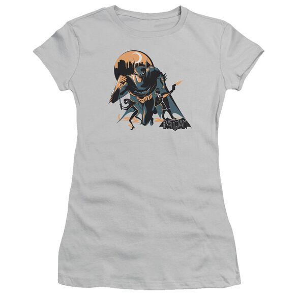 Beware The Batman Moon Run Short Sleeve Junior Sheer T-Shirt
