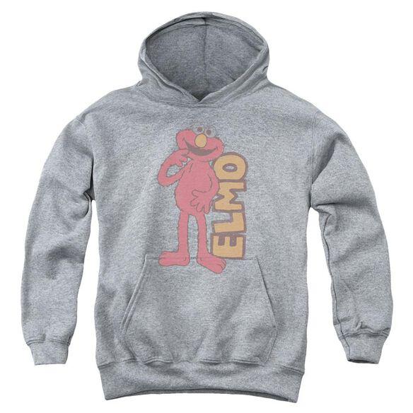 Sesame Street Vintage Elmo Youth Pull Over Hoodie Athletic