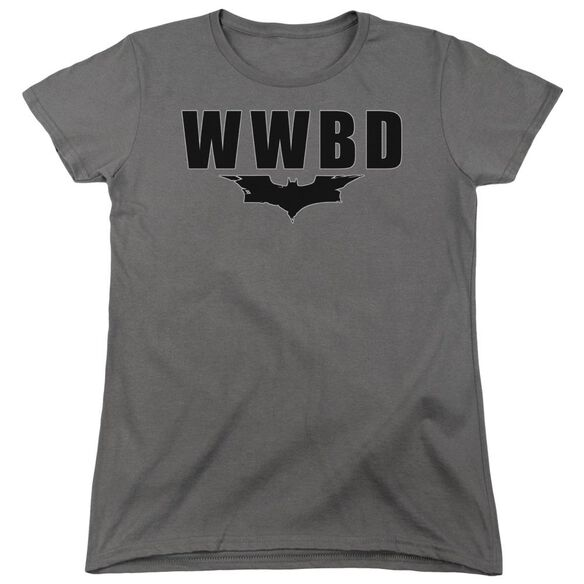 Dark Knight Wwbd Logo Short Sleeve Womens Tee T-Shirt