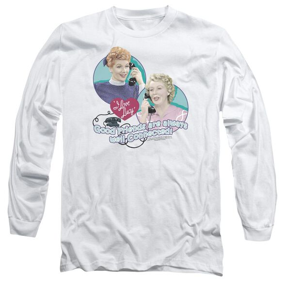 I Love Lucy Always Connected Long Sleeve Adult T-Shirt