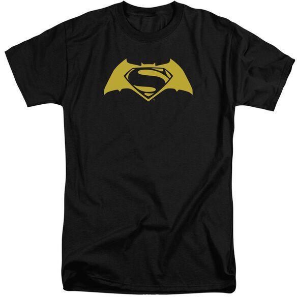 Batman V Superman Simple Logo Short Sleeve Adult Tall T-Shirt