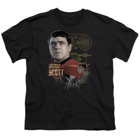 Star Trek Chief Engineer Scott Short Sleeve Youth T-Shirt