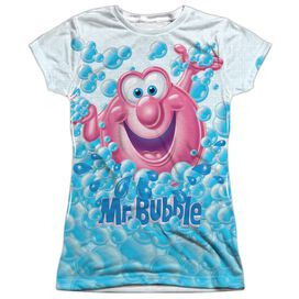 Mr Bubble Clean Sweep Short Sleeve Junior Poly Crew T-Shirt