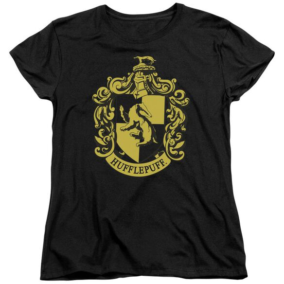 Harry Potter Hufflepuff Crest Short Sleeve Womens Tee T-Shirt