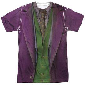 Dark Knight Joker Costume Short Sleeve Adult Poly Crew T-Shirt