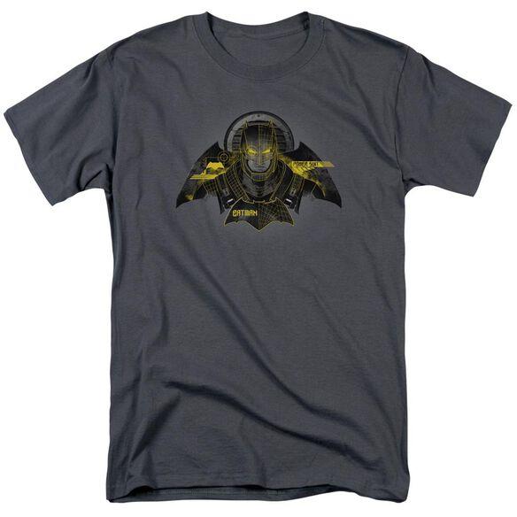 Batman V Superman Batman Tech Short Sleeve Adult Charcoal T-Shirt