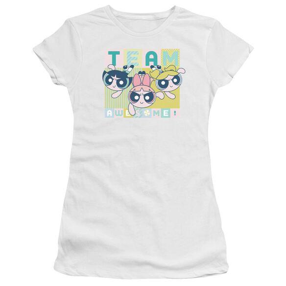 Powerpuff Girls Awesome Block Hbo Short Sleeve Junior Sheer T-Shirt