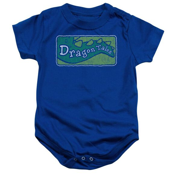 Dragon Tales Logo Distressed Infant Snapsuit Royal Blue