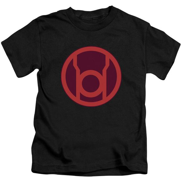 Green Lantern Red Symbol Short Sleeve Juvenile Black T-Shirt