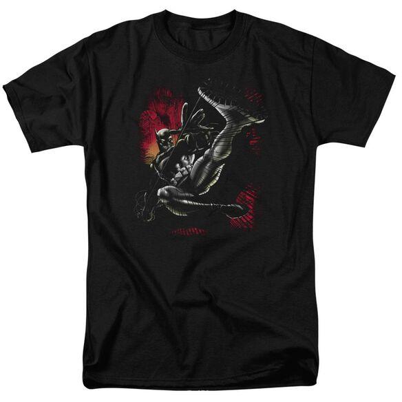 Batman Kick Swing Short Sleeve Adult T-Shirt
