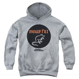 Parks & Rec Mouse Rat Circle Youth Pull Over Hoodie