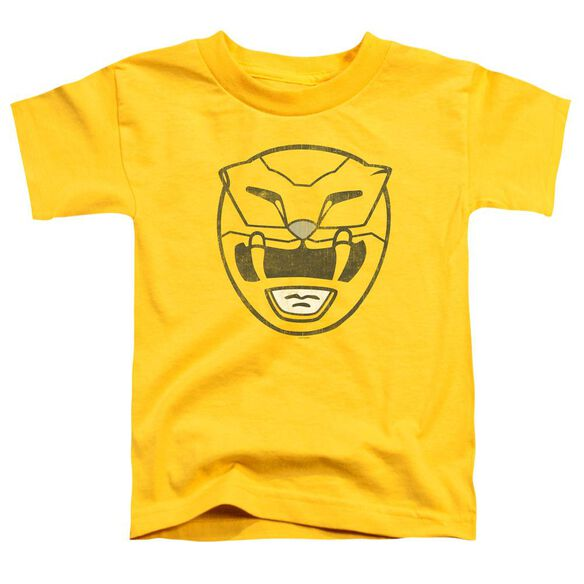 Power Rangers Yellow Ranger Mask Short Sleeve Toddler Tee Yellow T-Shirt