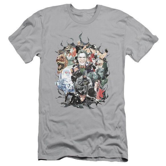 BATMAN CAPE OF VILLIANS - S/S ADULT 30/1 - SILVER T-Shirt