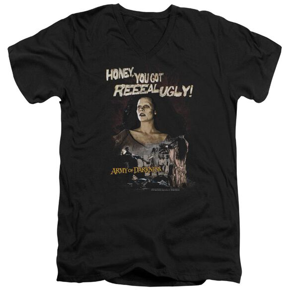 Army Of Darkness Reeeal Ugly! Short Sleeve Adult V Neck T-Shirt
