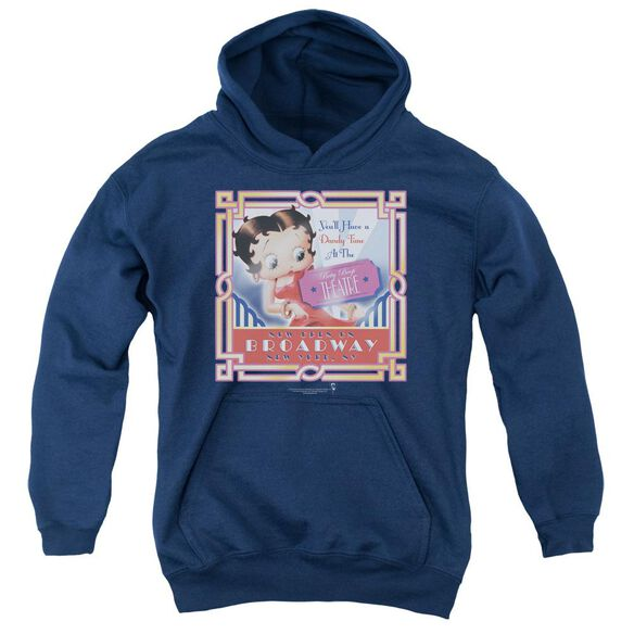 Betty Boop On Broadway Youth Pull Over Hoodie