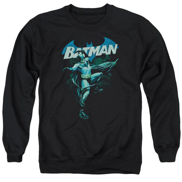 Batman Blue Bat - Adult Crewneck Sweatshirt - Black
