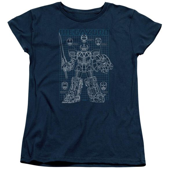 Power Rangers Mega Plans Short Sleeve Women's Tee T-Shirt
