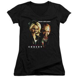 Bride Of Chucky Chucky Gets Lucky Junior V Neck T-Shirt