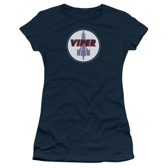 BSG VIPER BADGE - S/S JUNIOR SHEER - NAVY T-Shirt