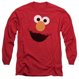 Sesame Street Elmo Face Long Sleeve Adult T-Shirt