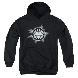 Green Lantern White Glow-youth Pull-over Hoodie - Black