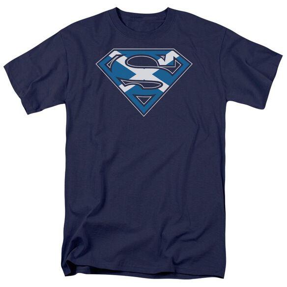 SUPERMAN SCOTTISH SHIELD - S/S ADULT 18/1 - NAVY T-Shirt