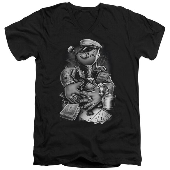 Popeye Mine All Mine Short Sleeve Adult V Neck T-Shirt