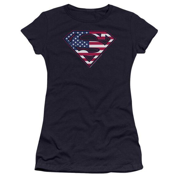 Superman U S Shield Premium Bella Junior Sheer Jersey