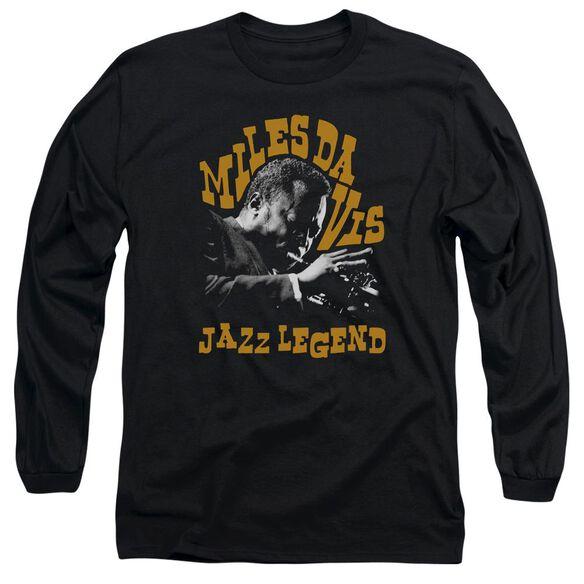 Miles Davis Jazz Legend Long Sleeve Adult T-Shirt