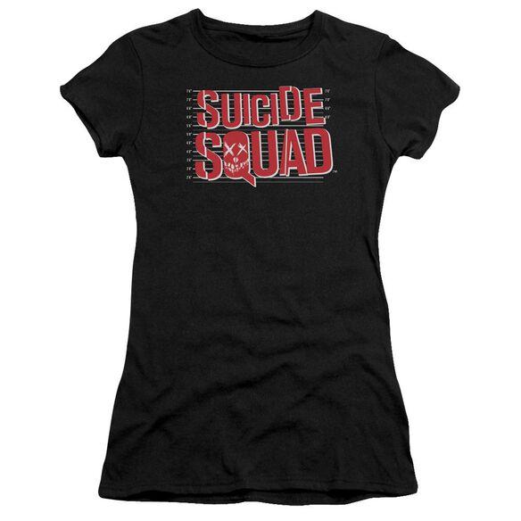 Suicide Squad Lineup Logo Premium Bella Junior Sheer Jersey