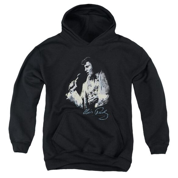 Elvis Painted King Youth Pull Over Hoodie