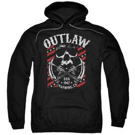 Sons Of Anarchy Outlaw Adult Pull Over Hoodie Black