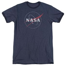 Nasa Distressed Logo Adult Ringer