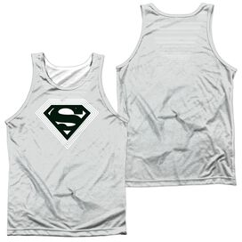 Superman Optical Stripes Adult 100% Poly Tank Top