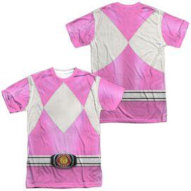 Power Rangers Pink Ranger (Front Back Print) Short Sleeve Adult Poly Crew T-Shirt