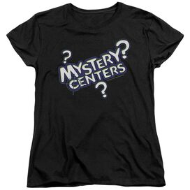 DUBBLE BUBBLE MYSTERY CENTERS - S/S WOMENS TEE - BLACK T-Shirt