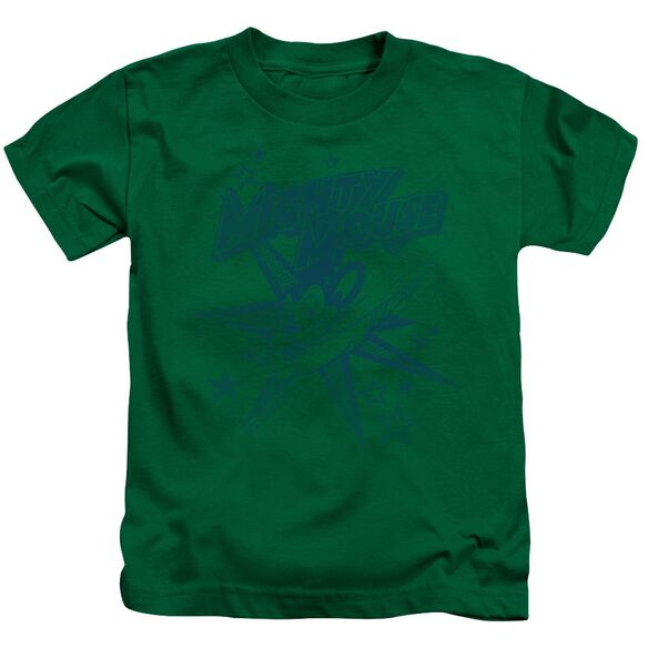 Mighty Mouse Mighty Mouse Short Sleeve Juvenile Kelly Green T-Shirt