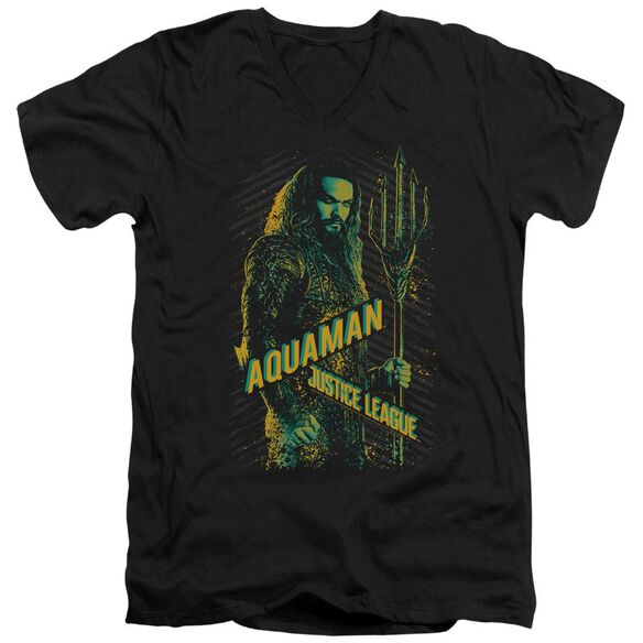Justice League Movie Aquaman Short Sleeve Adult V Neck T-Shirt