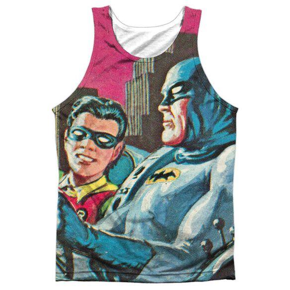Batman Classic Tv Bat Signal Adult 100% Poly Tank Top