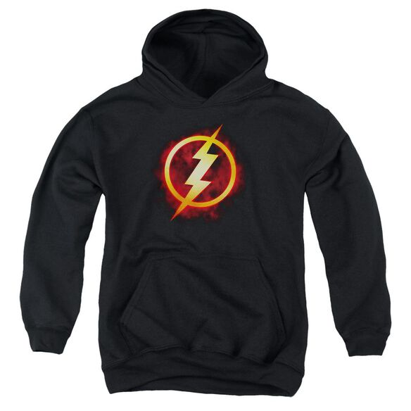 Jla Flash Title Youth Pull Over Hoodie