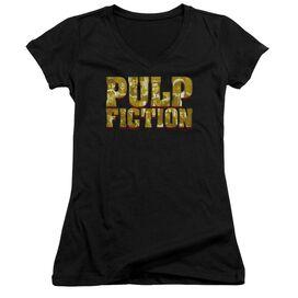 Pulp Fiction Pulp Logo Junior V Neck T-Shirt