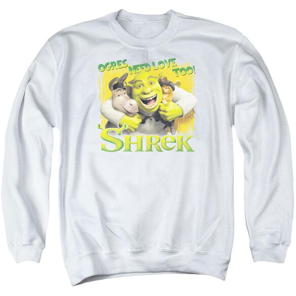 Shrek Ogres Need Love Adult Crewneck Sweatshirt