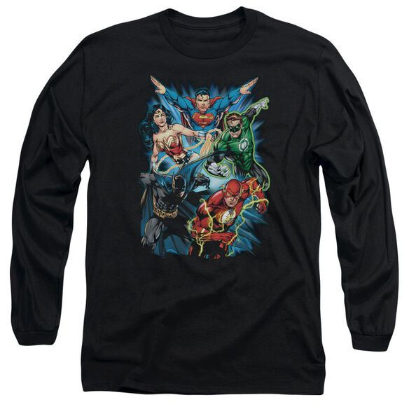 Jla Jl Assemble Long Sleeve Adult T-Shirt