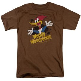 Woody Woodpecker Through The Tree Short Sleeve Adult Coffee T-Shirt