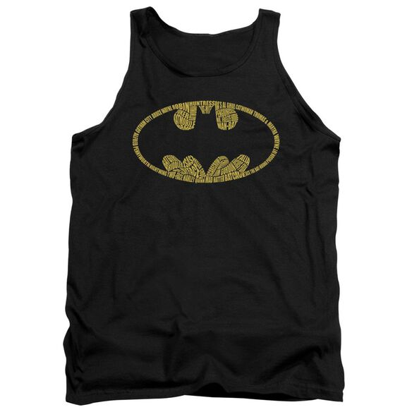 Batman Word Logo Adult Tank
