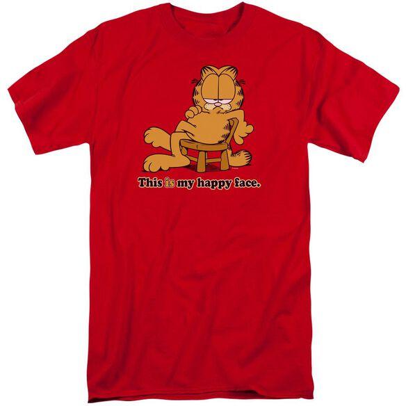 Garfield Happy Face Short Sleeve Adult Tall T-Shirt