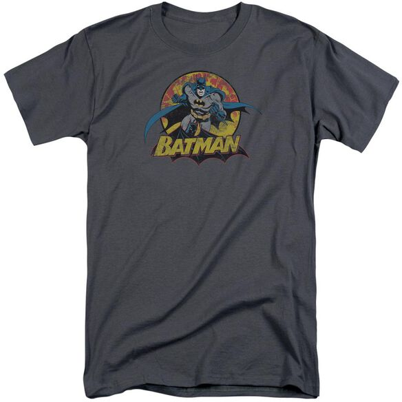 Jla Batman Rough Distress Short Sleeve Adult Tall T-Shirt