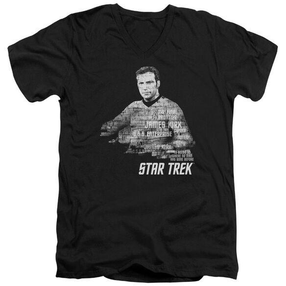 Star Trek Kirk Words Short Sleeve Adult V Neck T-Shirt